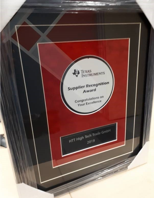 htt Group's Probecard Manufacturing receives Supplier Award from Texas Instruments!